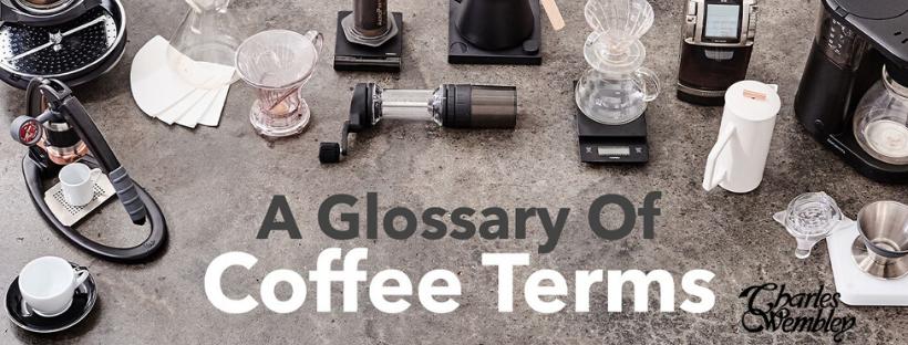 Các thuật ngữ liên quan đến café