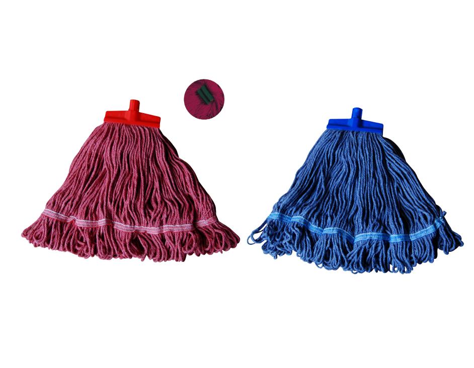 Cây lau sàn dạng búi (chưa có cán cầm) SYR - Xanh dương/đỏ