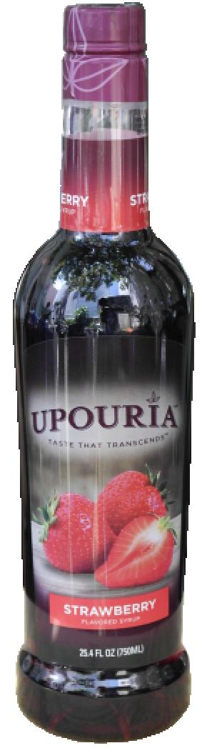 Upouria Syrup Strawberry / Si rô hương vị Dâu Tây